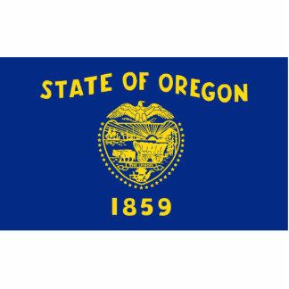Oregon Flag Keychain Cut Out