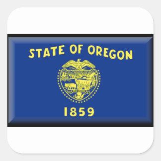 Oregon flag square sticker