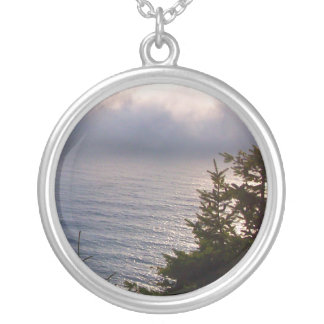 Oregon Fog Silver Plated Necklace