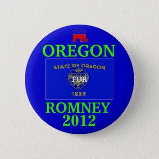 Oregon for Romney 2012 6 Cm Round Badge
