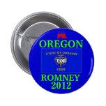 Oregon for Romney 2012 Pin