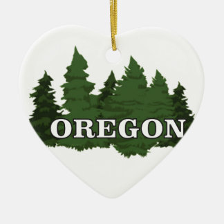 Oregon Forest Ceramic Ornament