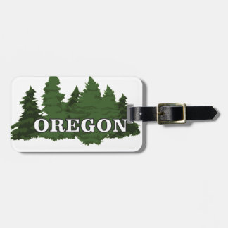 Oregon Forest Luggage Tag