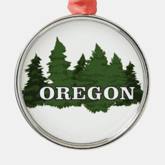 Oregon Forest Metal Ornament