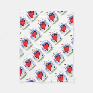 oregon head heart, tony fernandes fleece blanket