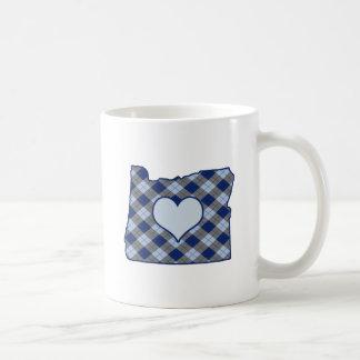 Oregon Home is Where the Heart is Basic White Mug