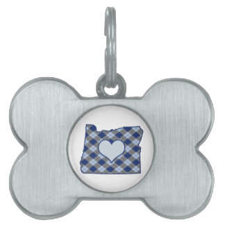 Oregon Home is Where the Heart is Pet ID Tag
