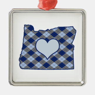 Oregon Home is Where the Heart is Silver-Colored Square Decoration
