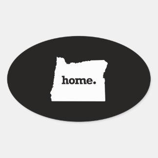 Oregon Home Oval Sticker