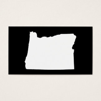 Oregon in White and Black Business Card