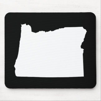 Oregon in White and Black Mouse Pad