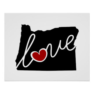 Oregon Love!  Gifts for OR Lovers Poster