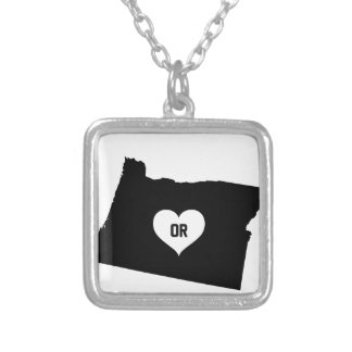 Oregon Love Silver Plated Necklace