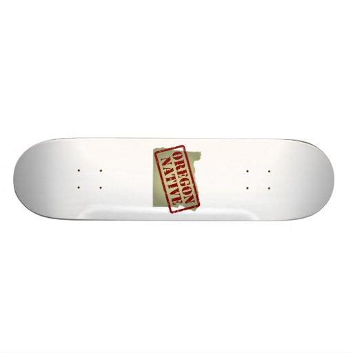 Oregon Native Stamped on Map Skate Board Deck