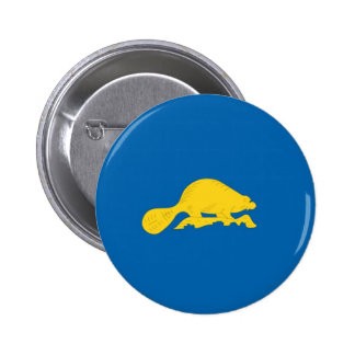 Oregon Official State Flag Reverse Pinback Button