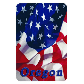 Oregon on Flag United States of America Rectangular Photo Magnet