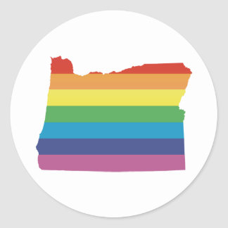 oregon pride. classic round sticker