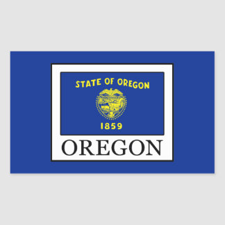 Oregon Rectangular Sticker