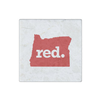 OREGON RED STATE STONE MAGNET