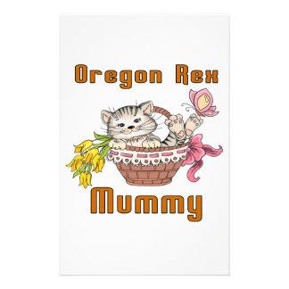 Oregon Rex Cat Mom Stationery