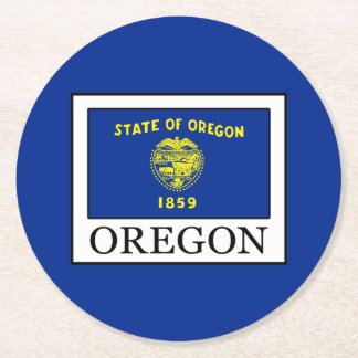 Oregon Round Paper Coaster
