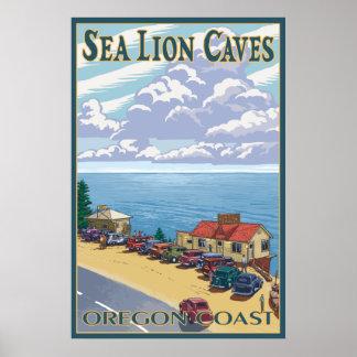 Oregon - Sea Lion Caves Poster