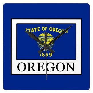 Oregon Square Wall Clock