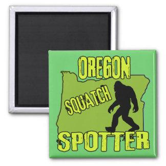 Oregon Squatch Spotter Square Magnet