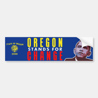 Oregon Stands for Change - Obama Bumper Sticker
