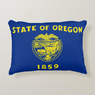 Oregon State Flag Accent Cushion