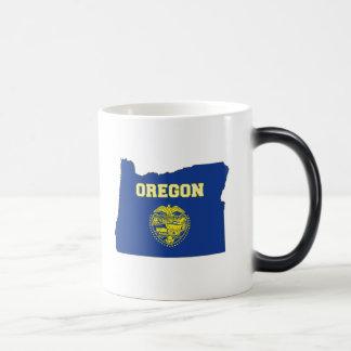 Oregon State Flag and Map Coffee Mug