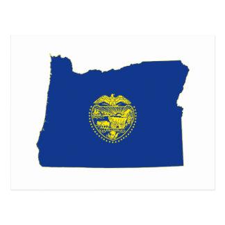 Oregon State Flag and Map Postcard