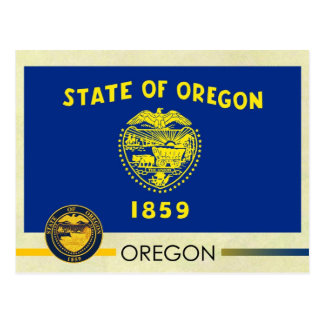 Oregon State Flag and Seal Post Cards