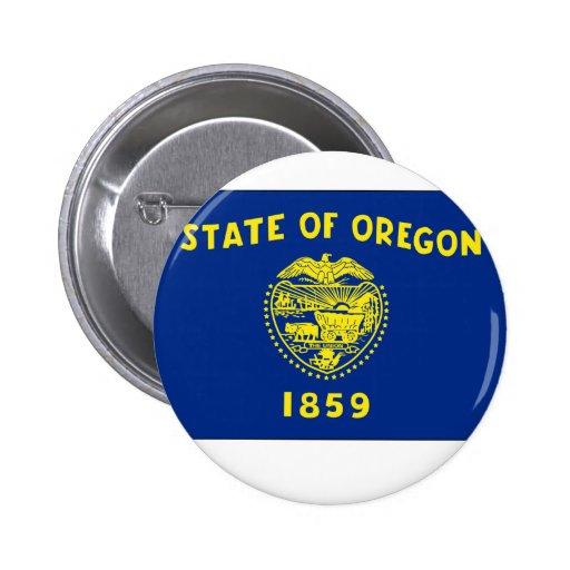 Oregon State Flag Button