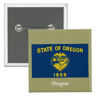 Oregon State Flag Pinback Button