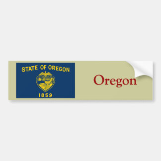 Oregon State Flag Bumper Sticker