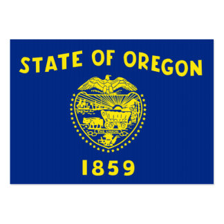 Oregon State Flag Business Card Templates
