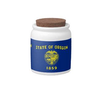 Oregon State Flag Candy Jar