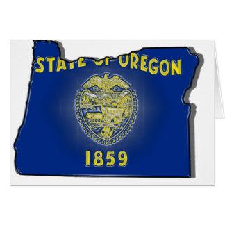 Oregon State Flag Card