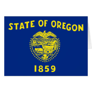 Oregon State Flag Greeting Card