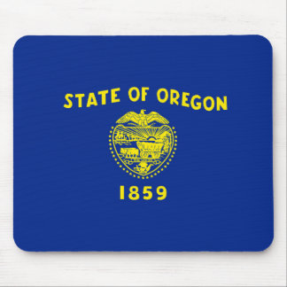 Oregon State Flag Design Mouse Pad