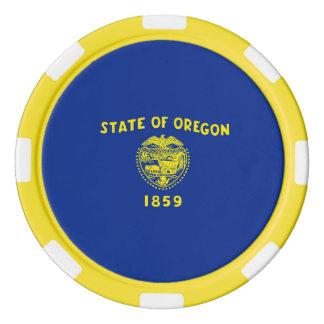 Oregon State Flag Design Poker Chips