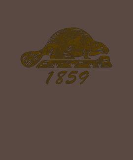 Oregon State Flag Grunge Beaver Brown Shirts