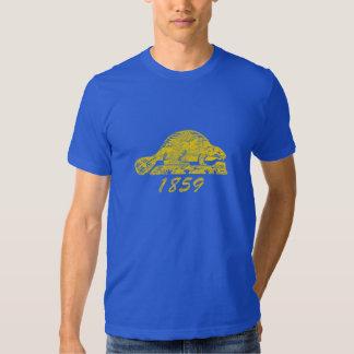 Oregon State Flag Grunge Beaver Salem Love T-shirt