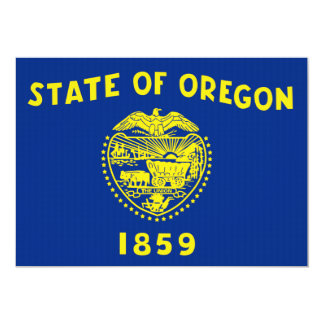 Oregon State Flag Personalized Invitation
