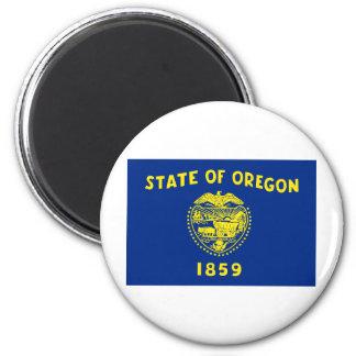 Oregon State Flag 6 Cm Round Magnet
