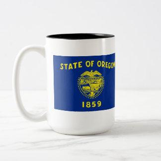 Oregon State Flag Two-Tone Coffee Mug