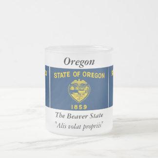 Oregon State Flag Frosted Glass Mug