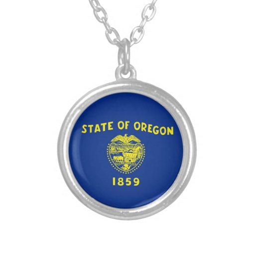 Oregon State Flag Personalized Necklace
