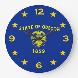 Oregon State Flag on a Large Clock